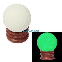 Delicate Glow In Dark Quartz Crystal Sphere Ball Luminous 3.5cm 60g + Base