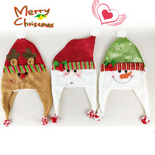 Fashion Cute Cartoons Christmas Hats Thickened Hat Santa Claus Cap Family Adult/Child Xmas Party Supplies(China)