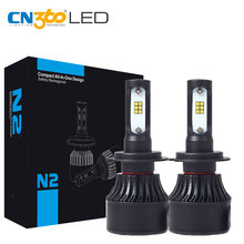 CN360 H7 LED CSP Chip Auto Car Headlight Bulb 8000LM Fog Lamp 6000K 12V 72W Mini Size White Plug & Play Cooling Fan - Official Store store