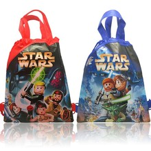 20Pcs New Items Star Wars Cartoon Drawstring Backpack Non-woven fabrics Kids Bags,Shopping Bags ,Party Gift,Kids Favorite