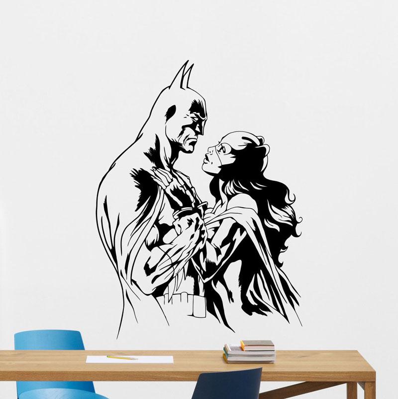 "5/""x 2.5/"" Batman Catwoman Gray Suit bumper sticker wall decor vinyl decal"