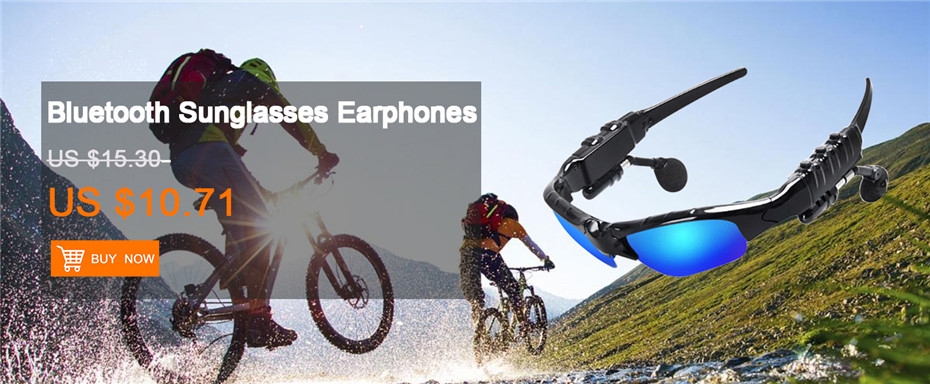 Sunglasses Bluetooth Headset Outdoor Glasses with Mic Stereo Wireless Headphone for iPhone