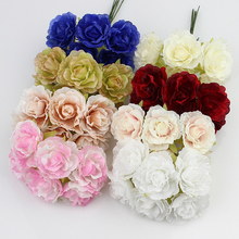 Buy 3cm silk flower Artificial rose flowers wedding decoration DIY Wreath Gift Scrapbooking Craft Fake Flower 60pcs/lot for $7.49 in AliExpress store