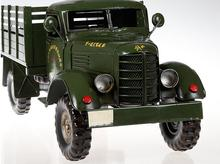 1pcs 19.5inch hand made metal Liberation army truck model 22.25 inch tank truck model for desk deck.