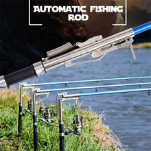 Lightweight Stainless Steel Automatic Fishing Rod Anti-Slip Handle Sea River Lake Fishing Rod Fish Pole With Storage Bag Newest(China)