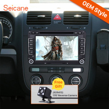 Seicane 2 Din 7 inch Radio DVD Player GPS Navigation Head Unit for 2003-2009 VW Volkswagen Golf Plus Bluetooth SD Aux IPOD RDS(China)