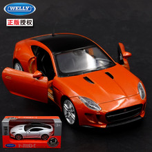 1:36 11.5cm new Welly F-TYPE coupe car alloy vehicle model pull back cool boy birthday toy(China)