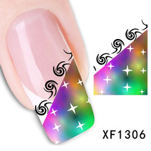 2017 Special Offer Direct Selling Nails Manicure 2 Sheets Watermark Nail Stickers Flowers Row Of Pens Manufacturers Xf1306