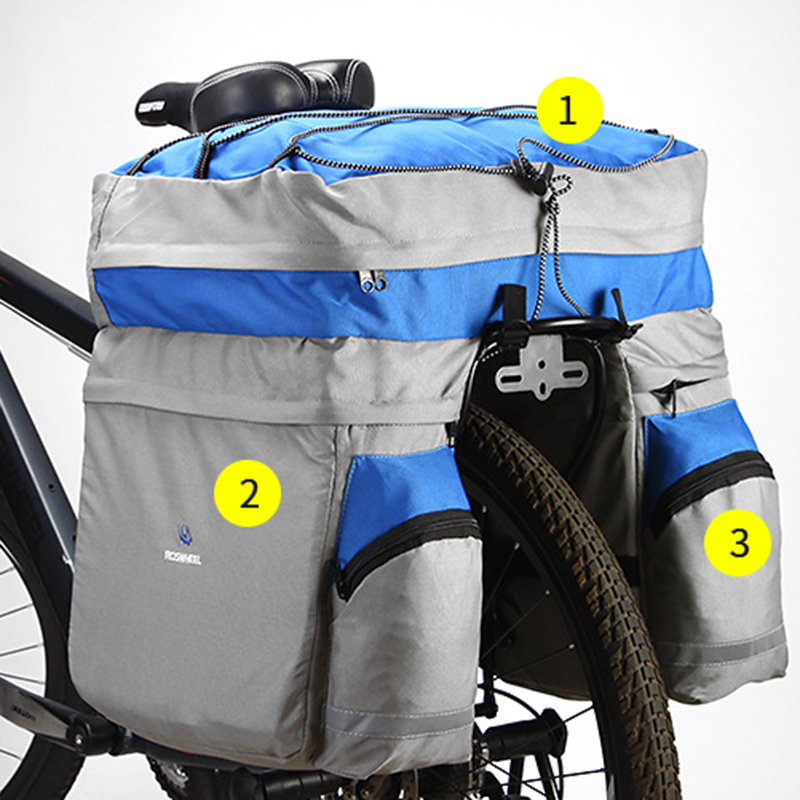 Bike accessories Bag Double Bicycle Rear Seat Trunk Large Capacity Lightweight