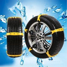 Car Snow Tire Anti-skid Chains Beef Tendon 37x4.7cm Vehicles Truck Wheel Snow Chains Auto Winter Maintenance(China)