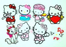 Mix8pcs hello kitty Iron On Embroidered Patches For Clothes sewing on Fabric Badge Garment  Labels Appliques patch DIY Accessory