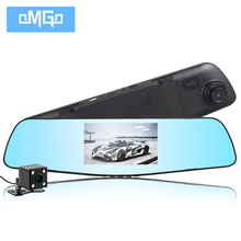 full hd1080p dual lens car camera auto dvrs cars dvr rearview mirror recorder video registrator night vision dash cam camcorder(China)