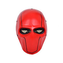 Army Fibreglass Star Airsoft Paintball Face mask Red / Black-Yellow Free shipping