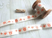 15mm x30m  Russian Doll Retro Zakka Handmade 100% Cotton Ribbon Sewing tape Fabric Webbing