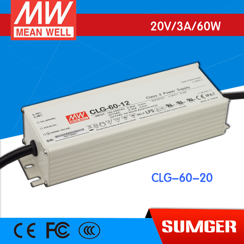 [MEAN WELL] original CLG-60-20 20V 3A meanwell CLG-60 20V 60W Single Output LED Power Supply<br>