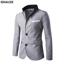 EINAUDI  Men Blazer 2017 New Arrival Clothes Listing Fashion Top Brand Mens Suit Terno Casual Slim Fit Jacket Blazer Masculino