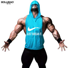 Buy BOLUBAO Brand Men Hoody Tank Top Workout Muscle Stringer Tanks Top Bodybuilding Gyms Clothes Fitness Sleeveless Shirt Ridge Male for $6.63 in AliExpress store