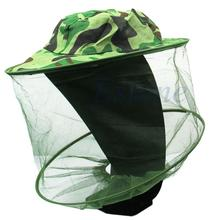 Free shipping Bug Insect Bee Mosquito Resistance Net Mesh Head Face Protector Fish Cap Sun Hat(China)