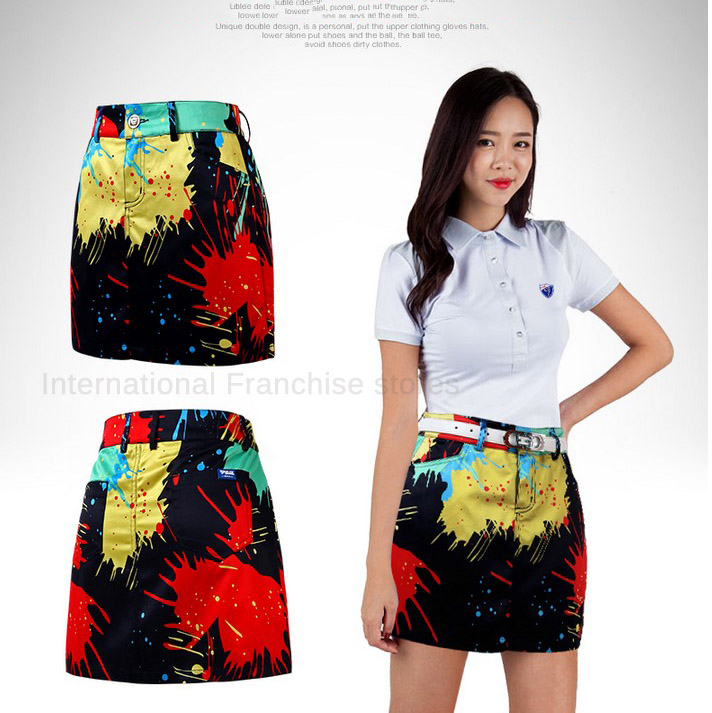 Brand New Arrival PGM Golf Shorts Skirt Summer Quality Print Ladies Golf Safety Step Pencil Package Hip skirt Sport Multicolor<br>