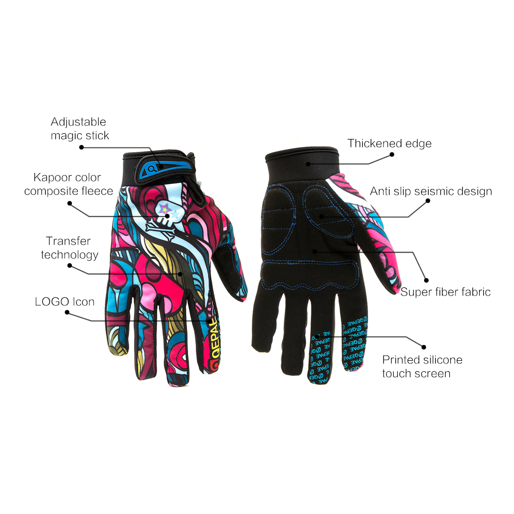 Qepae Full Finger Motorcycle Winter Gloves Screen Touch Guantes Moto Racing/Skiing/Climbing/Cycling/Riding Sport Motocross Glove 12