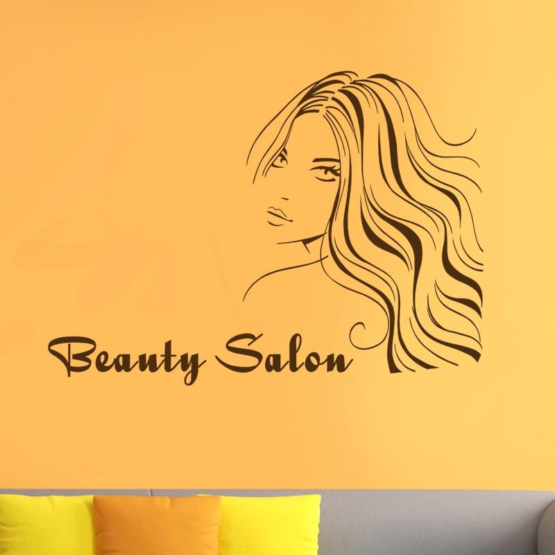 Hair Salon Sticker Beauty Decal Haircut Name Posters Time Hour Vinyl Wall Art Decals Decor Decoration Mural Salon Sticker M0024
