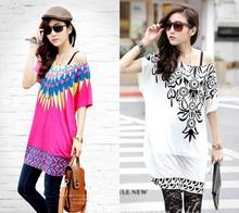 Milk Silk dress Women Dress Casual Dress Loose Printing Floral Tunic Dress Women Clothing #X500021