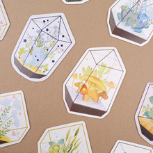 30pcs/box cute greenhouse glass plant diy message paper gift card post it school supply bookmark big size(China)