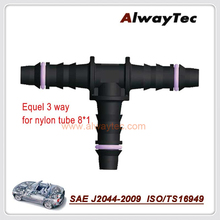 T1   free shipping high quality  3 way T shape equal tee adapter