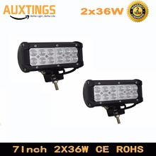 Germany STOCK 2X36W 7IN LED Work Light Bar Trailer Light Flood Spot Offroad Driving Lamp For Car Auto SUV Truck Boat 4x4(China)