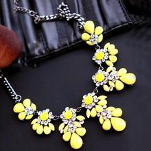 2015 New High quality fashion gift gold necklace chain Shourouk Vintage Rhinestone Bib necklaces women statement jewelry(China)