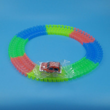220 Pcs Magic Tracks And 1Pcs LED Car Bend Flexible Racetrack Glow In the Dark Race Track DIY Assembly Toys FJ88