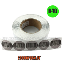 20000pcs/lot 8.2mhz round EAS rf soft label rounded rf security soft tags diameter R40mm free shipping(1 carton)(China)