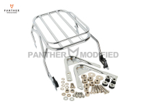 Chrome Motorcycle Luggage Rack & Docking Hardware Kits Moto Rear decoration case for Harley Touring Road King 1996-2008