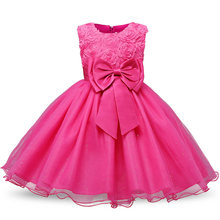 Red Christmas Girl Party Dress Girl's Clothing Infant Princess Merry Christmas Costumes Fancy Tulle Dresses Kids Clothes(China)