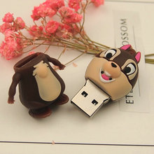 Kdata U Pen Drive Cute Squirrel 4gb 8GB 16G 32gb 64g USB 2.0 USB Flash Disk Pendrive Real Capacity Memory Card Stick Disk Gift