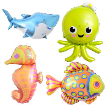Octopus Foil Balloons Fish Inflatable Toys Sea World Party Balloons Birthday Party Decorations Kids Wedding Decor Party Supplies