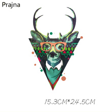 Prajna Printing Thermal Deer Patch Iron On Transfers For T Shirt Fabric Hot Vinyl Heat Transfers For Clothes Stickers Applique