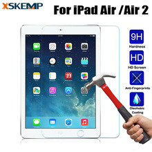 9H 2.5D 0.3MM Toughened Tempered Glass For iPad Air Air2 9.7 inch Explosion-Proof Tablet PC Film Clear Screen Protect Cover(China)