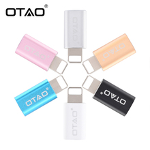 OTAO Micro USB Converter For Android Micro USB Adapter Male To USB Adapter Transfer For iPhone Fast Charging For Lighting(China)