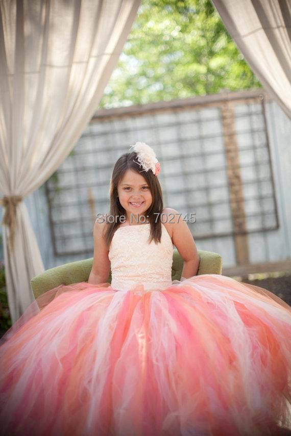 Wholesale 2015 New Girl 2 Piece Party Sets Vest+Colorful Gauze 2 Layer TUTU Skirt Princess Sets 2-8Y 8758<br><br>Aliexpress