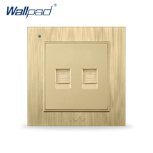 Dual Telephone Socket Phone Outlet Wallpad Luxury Wall Sockets Electrical Outlet(China)