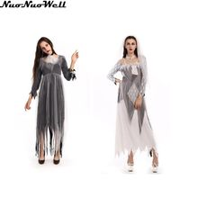 Corpse Bridal Costume Halloween Damon Vampire Bride Costume Masquerade Cosplay Adult Female Club Wear Party Ghost Bride Dress(China)