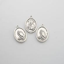 12pcs Tibetan Silver color oval shaped ST ANTHONY charms X0097(China)