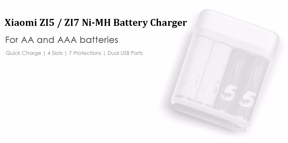 New Xiaomi ZMI ZI5 AAAAA Ni-MH Battery Charger with 4 Slots Portable Multifunction Charger for Smart Phone H20 #0 (3)