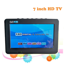 2017 New Televisions 7 Inch HD TV TFT LCD Color DVB-T2 Portable TV With Wide View Angle, Support SD/MMC Card, USB Flash Disk Sal