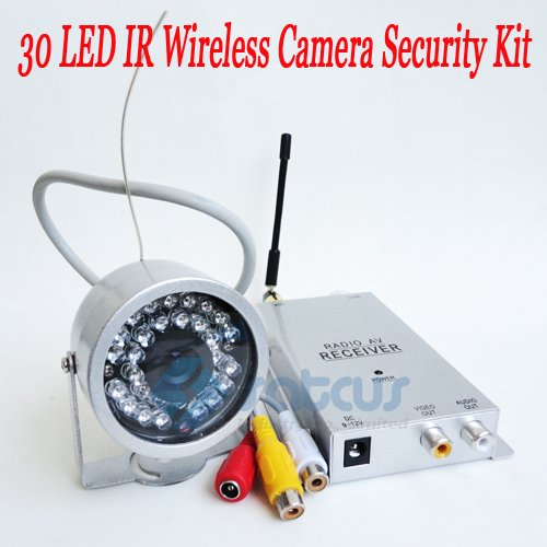 Most Cost-Effective Wireless Security Kit 30LED 1.2G Night Vision IR Color 1/3 CMOS CCTV Camera<br>