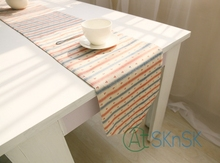 New fashion Foreign cabinet table runner Mediterranean style home decoration 100% linen table flag anchors stripe table runner(China)