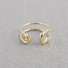 Fashion Fashion Gold-color Rings filled zig zag band thumb ring wholesale 30pcs lot  Free shipping