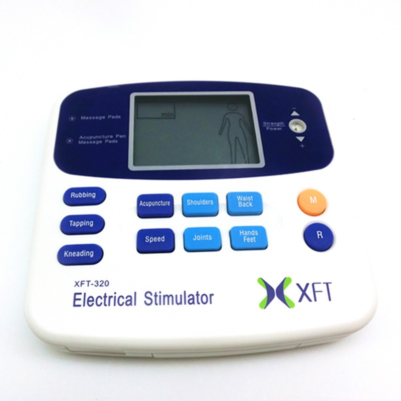 XFT-320 Full Body Dual Channels EMS TENS meridian therapy massager pulse stimulator with acupuncture pen massageador corporal<br>
