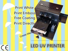 A4 Size 6 color UV Printer Universal Flatbed Printer Direct Printing Machine Print White